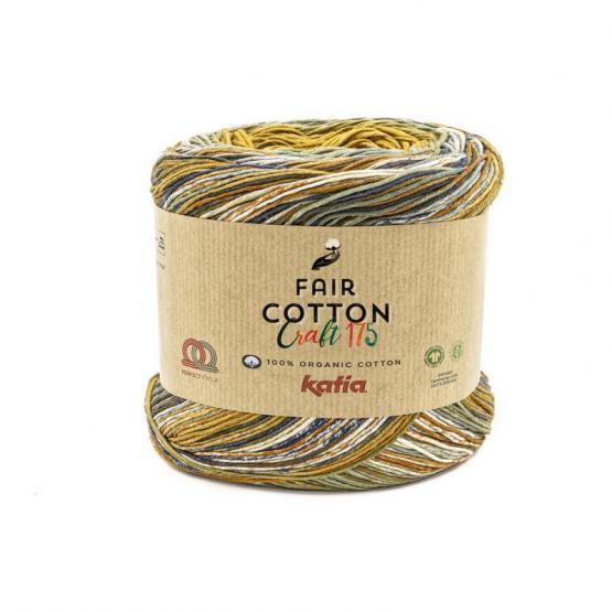 Katia FAIR COTTON CRAFT175 801 beige/camel/vison