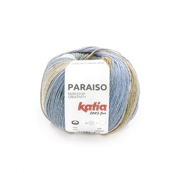 Katia PARAISO 101 malva/lima/camel/kak