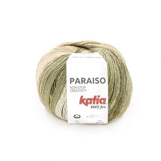 Katia PARAISO 103 agua/kakis/lima/rosa