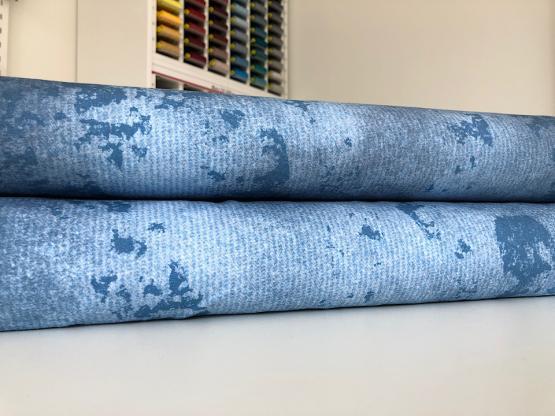 Baumwolljersey blau melange