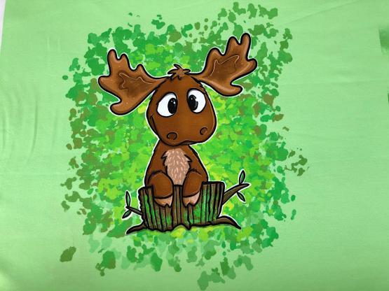 Baumwolljersey Victor grün